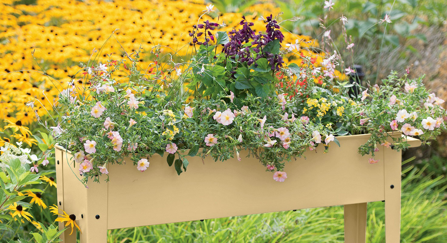 Add gardening space with elevated gardens